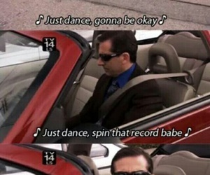 the office, Lady gaga, and michael scott image