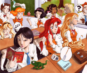 disney, princess, and school image