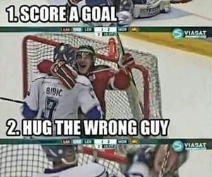 funny, hockey, and lol image