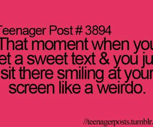 text, smile, and teenager post image
