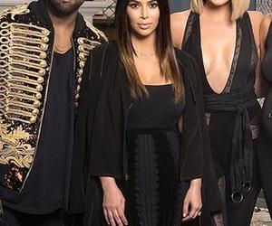 kanye west, kardashians, and khloe kardashian image
