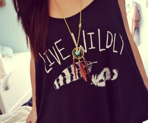 fashion, girl, and wild image