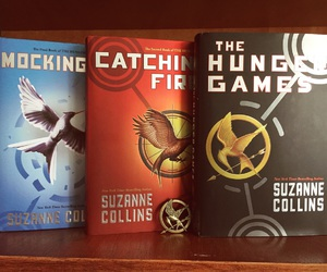 books, bookworm, and the hunger games image