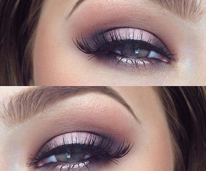 eyes, false eyelashes, and makeup image