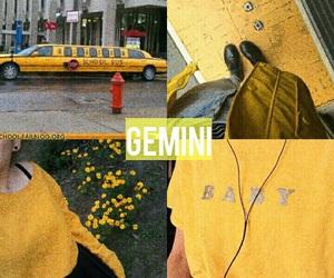 gemini, yellow, and zodiac image