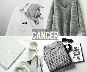 cancer, grey, and zodiac image