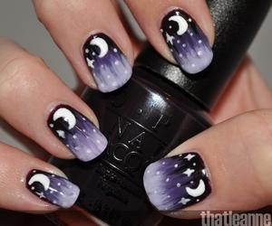 nails, night, and moon image