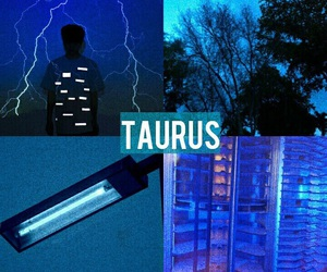 astrology, blue, and taurus image