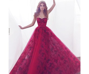 dress, red, and fashion image