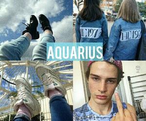 aquarius and blue image