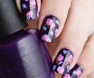 flowers, nail art, and perfect image