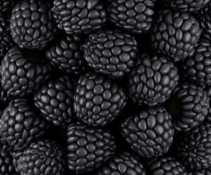 black, fruit, and food image