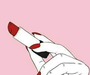 pink, lipstick, and red image