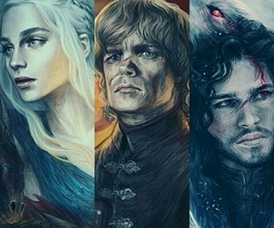 got, tyrionlannister, and jonsnow image