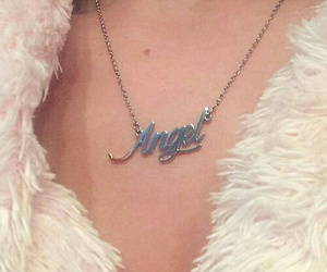 angel, aesthetic, and necklace image