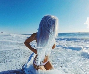 hair, blue, and summer image