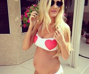 bikini, pregnancy, and baby bump image