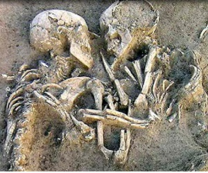 love, couple, and skeleton image