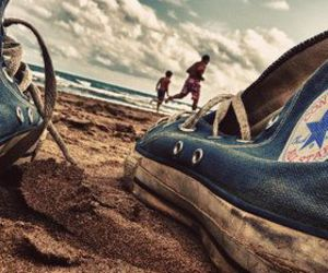 converse, beach, and summer image