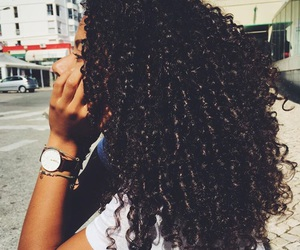 girl, curly, and curly hair image