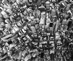 city, building, and black and white image