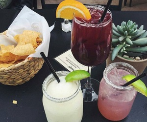 chips, drinks, and food image
