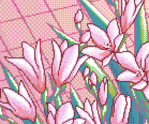pink and pixel image