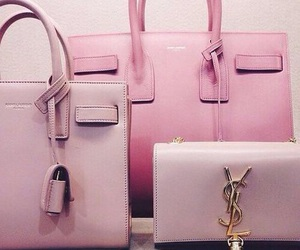 bag, pink, and YSL image