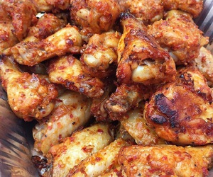 bow, chicken wings, and food image