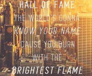 hall of fame, Lyrics, and music image