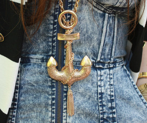 fashion, anchor, and gold image