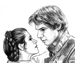 han solo, star wars, and love image