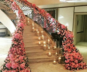 candles, flowers, and luxe image