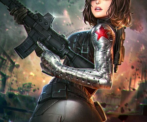 art, girl, and winter soldier image