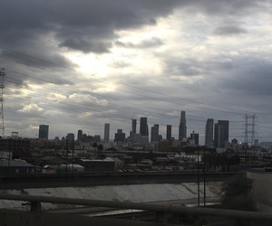 aesthetic, clouds, and downtown LA image