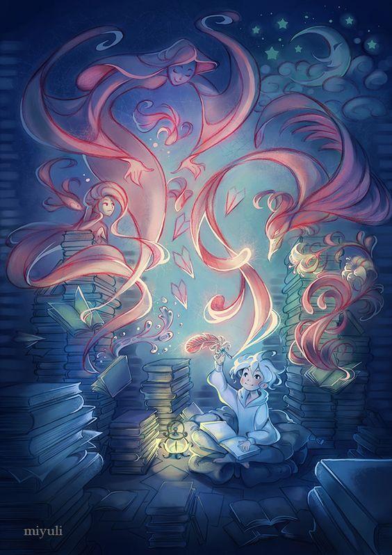 book, fantasy, and miyuli image
