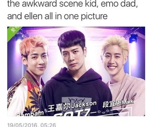 funny, got7, and kpop meme image