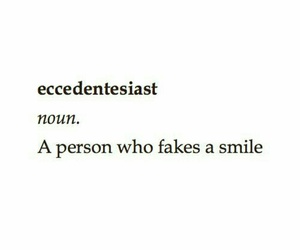 fake, smile, and eccedentesiast image