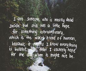 quote, bullshit, and hope image