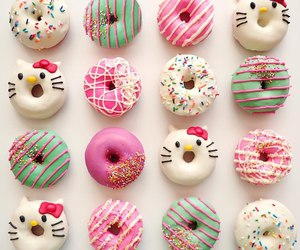 background, donut, and candy image