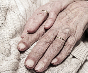 hands, wrinkled, and marrige image