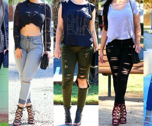 fashion, rocker, and torn jeans image