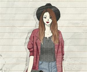 background, beautiful, and beauty girl image