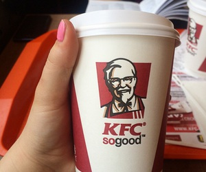 coffee, fast food, and kentucky fried chicken image