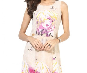 online dresses for women and purple georgette dress image