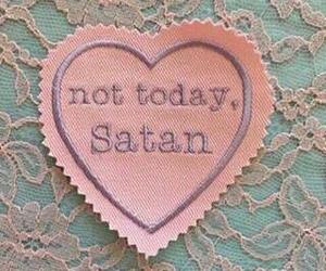pink, satan, and heart image