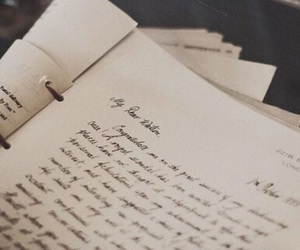 vintage, Letter, and book image