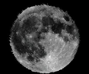 craters, dark, and luna image