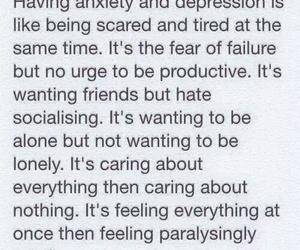 depression, anxiety, and sad image