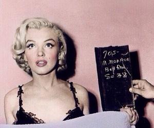 Marilyn Monroe, pink, and vintage image